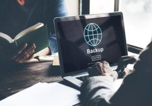 computer screen showing bqackup