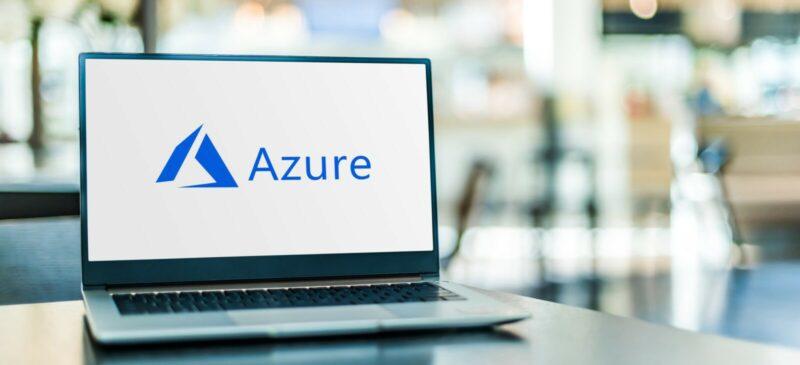 Azure logo on computer